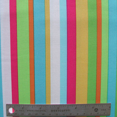 "ROBERT KAUFMAN ""ANOTHER IOTA"" Stripe Tropical 26.5 inches"