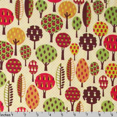 "TIMELESS TREASURES ""APPLE"" TREES Cream by 1/2 yard"