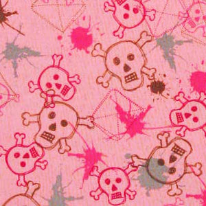 "ROBERT KAUFMAN ""BAD TO THE BONE"" SPLATTER Fuchsia 33.5 inches"