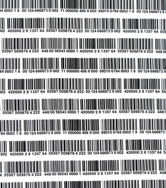 "TIMELESS TREASURES ""BARCODE"" White by 1/2 yard"