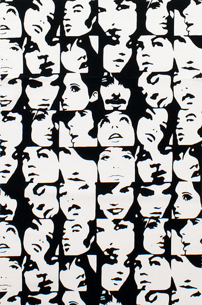 "ALEXANDER HENRY ""In Crowd"" Black and White by 1/2 yard"