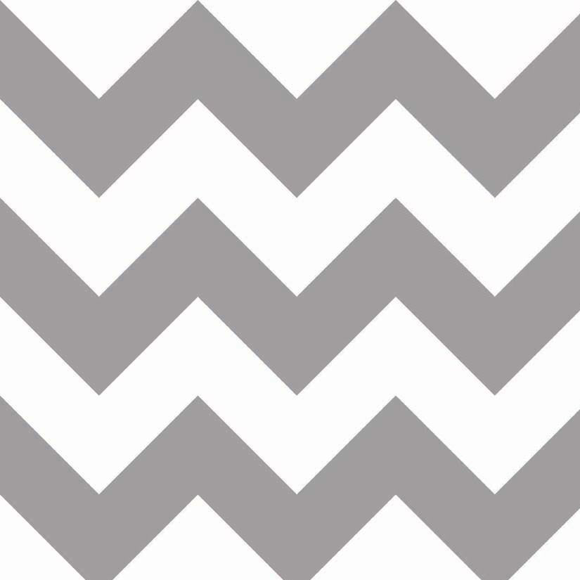 "RILEY BLAKE ""CHEVRON"" LARGE CHEVRON Gray 33 inches"