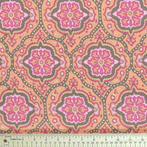 "AMY BUTLER ""CHARM"" COVINGTON TILE Orange by 1/2 yard"