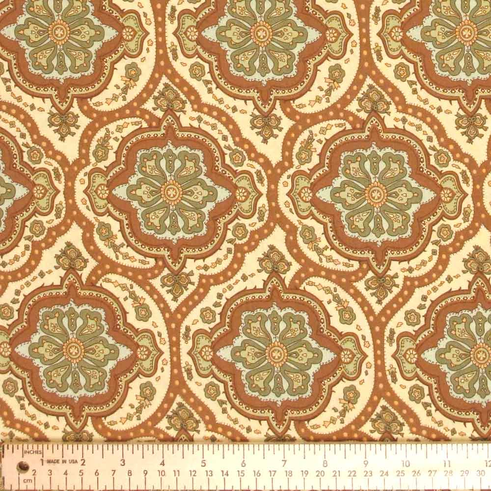 "AMY BUTLER ""CHARM"" COVINGTON TILE Brown by 1/2 yard"