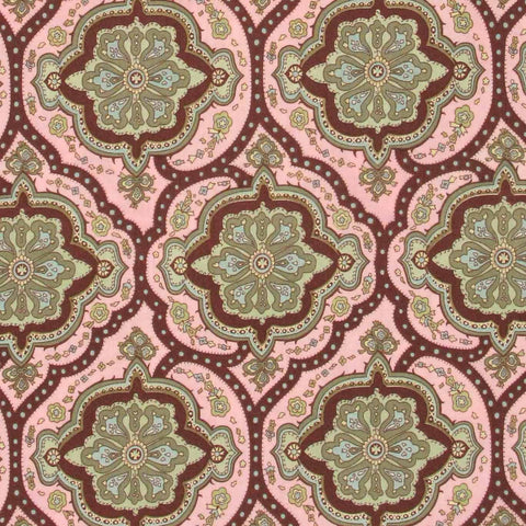 "AMY BUTLER ""CHARM"" COVINGTON TILE Pink by 1/2 yard"