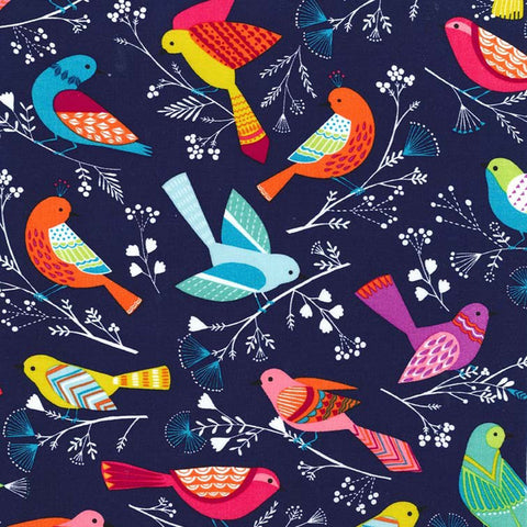 "MICHAEL MILLER ""FLOCK"" Navy BY 1/2 YARD"