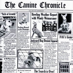 "TIMELESS TREASURES ""CANINE CHRONICLES"" White 18 inches"