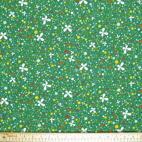 "ANDOVER ""GIRL FRIDAY"" BUTTERFLY Green by 1/2 yard"