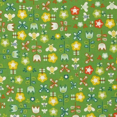 "ANDOVER ""GIRL FRIDAY"" GARDEN Green by 1/2 yard"
