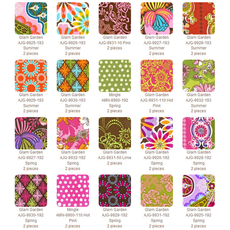 "ROBERT KAUFMAN ""GLAM GARDEN"" TEN SQUARES BUNDLE 40 pc"