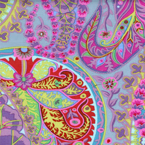 "KAFFE FASSETT ""PAISLEY JUNGLE"" Grey 27.5 inches"
