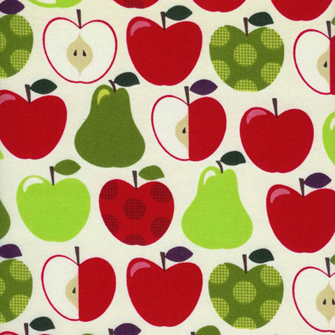 "TIMELESS TREASURES ""FRUIT A LA CARTE"" APPLE Cream 28 inches"