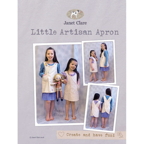 "JANET CLARE ""LITTLE ARTISAN APRON"" Sewing Pattern"