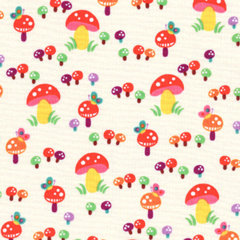 "TIMELESS TREASURES ""MOMO"" MUSHROOMS Cream by 1/2 yard"
