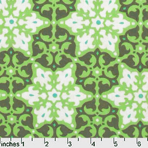 "AMY BUTLER ""DAISY CHAIN"" MOSAIC Green by 1/2 yard"