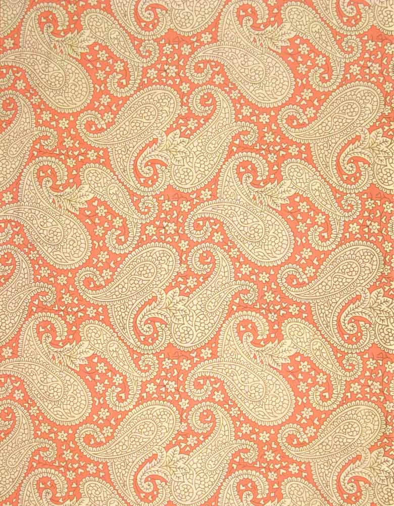 "AMY BUTLER ""CHARM"" PAISLEY Orange by 1/2 yard"