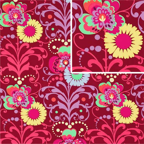 "AMY BUTLER ""LOVE"" PARADISE GARDEN Wine by 1/2 yard"