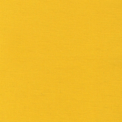 "ROBERT KAUFMAN ""ESSEX"" Linen Cotton Blend SUNSHINE by the 1/2 yard"