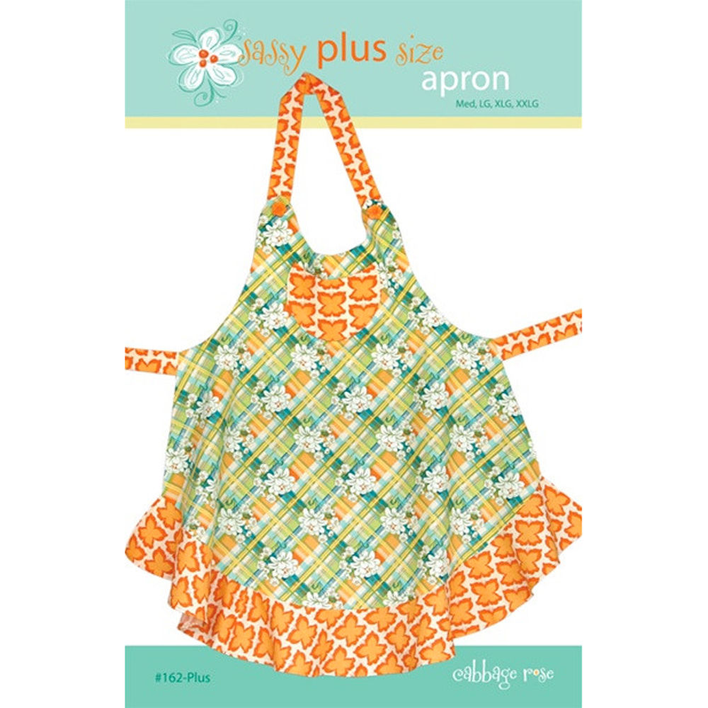"CABBAGE ROSE ""SASSY PLUS SIZE APRON"" Sewing Pattern"