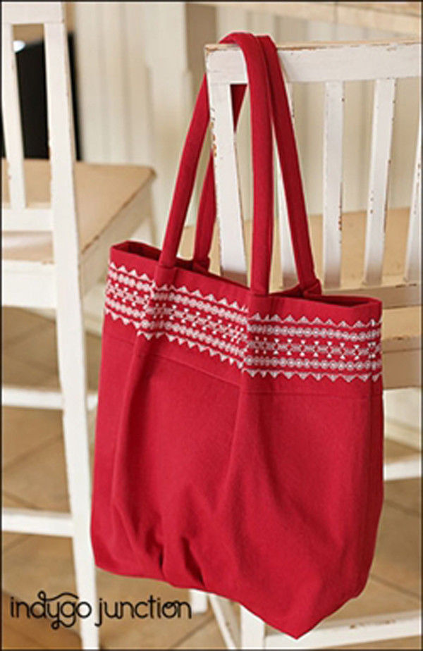 "INDYGO JUNCTION ""STITCHED TOP TOTE"" Sewing Pattern"