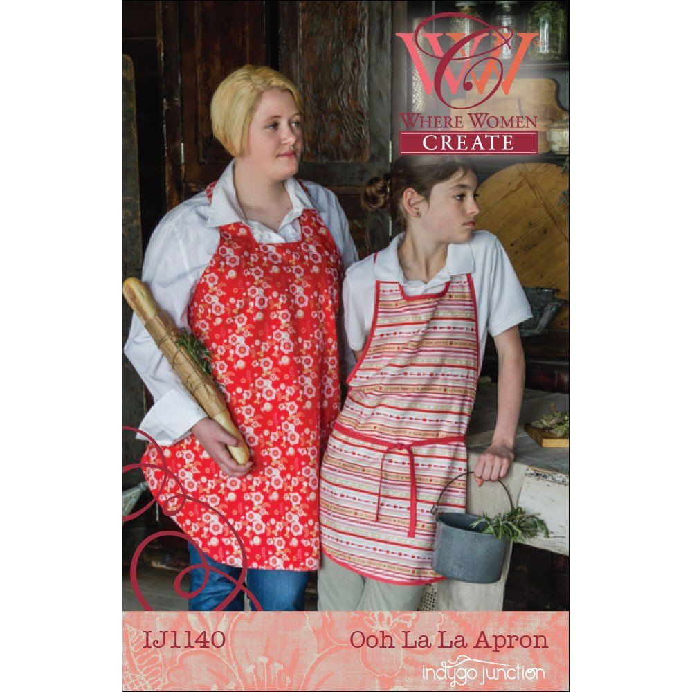 "INDYGO JUNCTION ""OOH LA LA APRON/Adult & Child"" Sewing Pattern"
