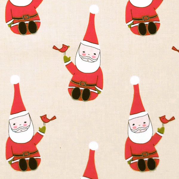 "ANDOVER ""SANTA CLAUS IS COMING TO TOWN"" SANTA Natural by 1/2 yard"