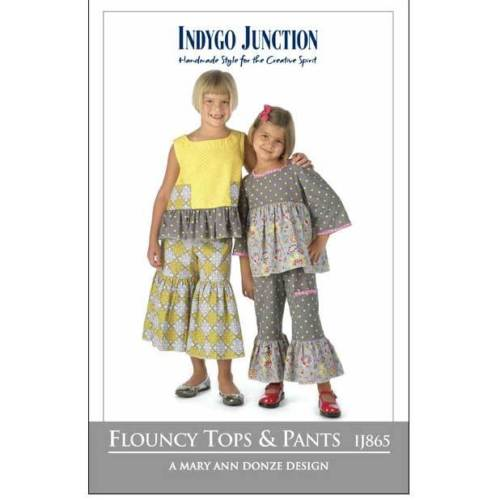 "INDYGO JUNCTION ""FLOUNCY TOPS & PANTS"" Sewing Pattern"