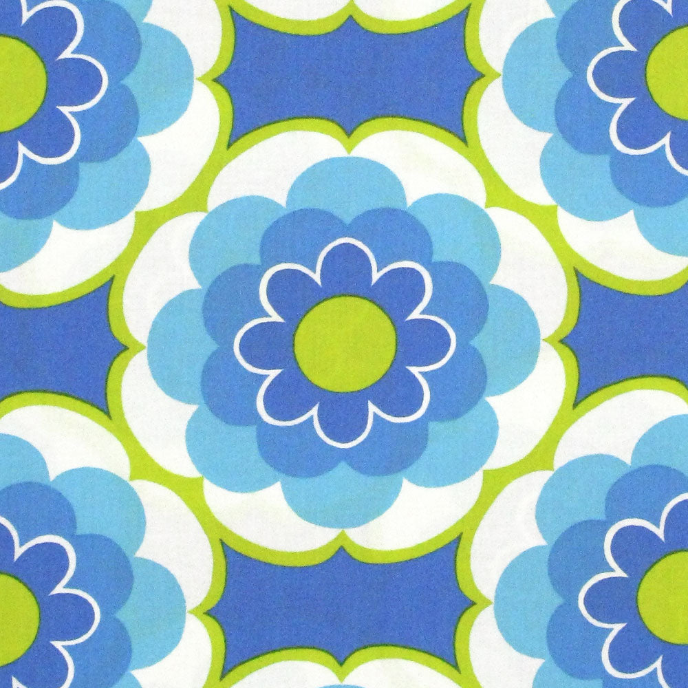 TIMELESS TREASURES SUNNY DAZE LARGE SET FLOWER Blue 23.5 inches