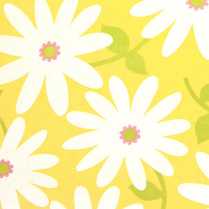 "TIMELESS TREASURES ""SUZI-Q"" DAISIES TOSSED Yellow by 1/2 yard"