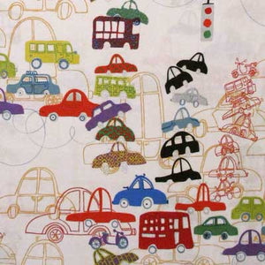 "ALEXANDER HENRY ""TRAFFIC JAM"" Natural 33 inches"