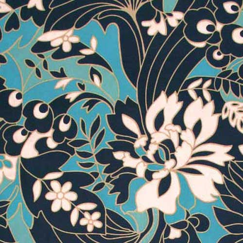 "AMY BUTLER ""DAISY CHAIN"" WILDFLOWERS"" Navy"