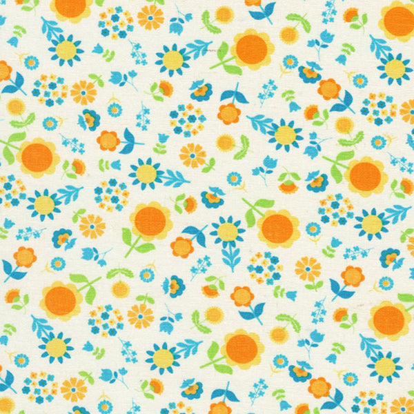 "TIMELESS TREASURES ""I HEART"" GARDEN Blue by 1/2 yard"