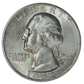 1952 United States Silver Washington Quarter - BU