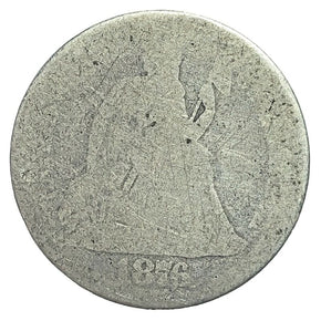 1876 United States Seated Liberty Dime - AG