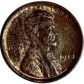 1918 United States Lincoln Wheat Cent Penny - BU