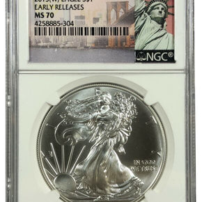 2015-W United States 1oz Silver Eagle - NGC MS70 - West Point