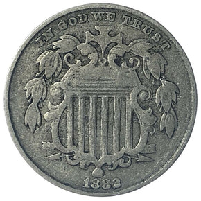 1882 United States Shield Nickel - Fine - Nice Obverse