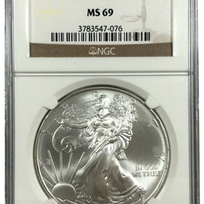 2009 United States 1oz Silver Eagle - NGC MS69