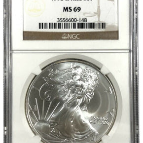 1998 United States 1oz Silver Eagle - NGC MS69