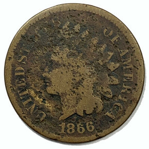 1866 United States Indian Head Cent Penny - AG