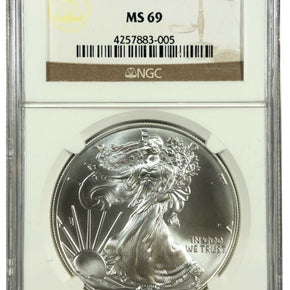 2015 United States 1oz Silver Eagle - NGC MS69