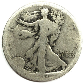1918-S United States Silver Walking Liberty Half Dollar - AG