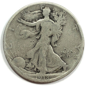 1918-S United States Silver Walking Liberty Half Dollar - G