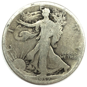 1917 United States Silver Walking Liberty Half Dollar - G