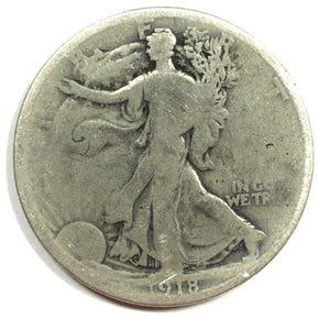 1918 United States Silver Walking Liberty Half Dollar - G