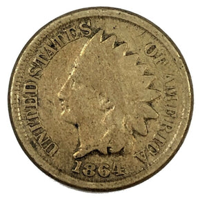 1864 United States Indian Head Cent Penny - G
