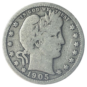 1905 United States Silver Barber Quarter - VG