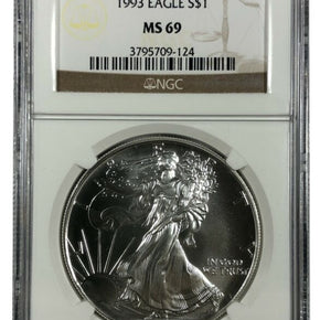 1993 United States 1oz Silver Eagle - NGC MS69