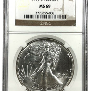1986 United States 1oz Silver Eagle - NGC MS69