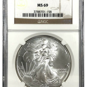 2000 United States 1oz Silver Eagle - NGC MS69
